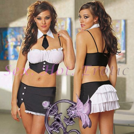 New Sexy Secretary Lingerie Hot Teacher Cosplay Adult Women Costume Dress OL# 05