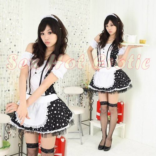 French Maid Costume Cosplay Japanese coat Lingerie Hot Sexy Cute women badydoll MC49