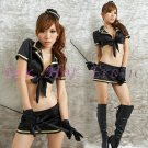 New SEXY & HOT Police Cosplay Dress Navy GIRL Costume Lingerie PO# 01