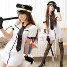New SEXY & HOT Police Cosplay Dress Navy GIRL Costume Lingerie PO# 03