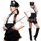 New SEXY & HOT Police Cosplay Dress Navy GIRL Costume Lingerie PO# 05
