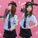 New SEXY & HOT Police Cosplay Dress Navy GIRL Costume Lingerie NOT INCLUDE GUN PO# 09
