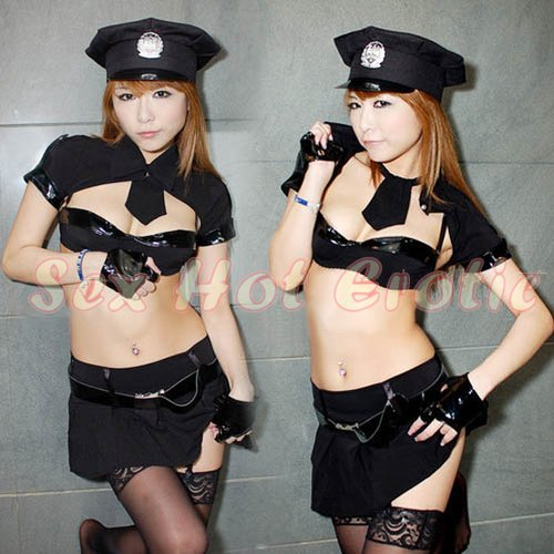 New SEXY & HOT Police Cosplay Dress Navy GIRL Costume Lingerie PO# 13
