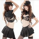 New SEXY & HOT Police Cosplay Dress Navy GIRL Costume Lingerie PO# 14