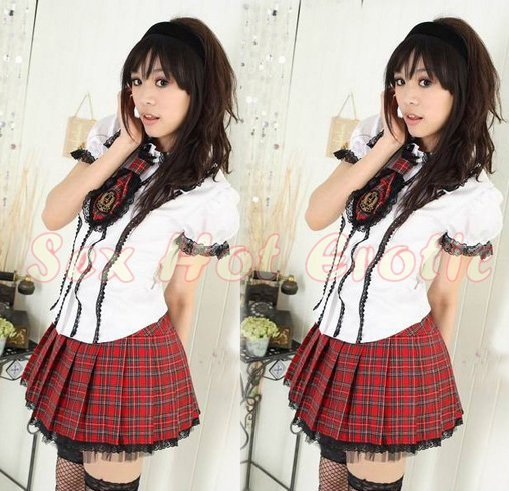 School Girls Teacher Costume Cosplay Japanese Lingerie Hot Sexy Cute Women Badydoll Sg32-7727