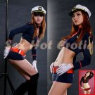 New SEXY & HOT Police Cosplay Dress Navy GIRL Costume Lingerie PO# 18