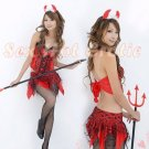 New Holloween party SEXY & HOT Devil Women Cosplay Dress Navy GIRL Costume Lingerie AD# 04