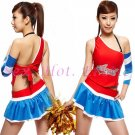 New SEXY & HOT Cheerleader Cosplay Dress Cute women Costume Lingerie CL# 01