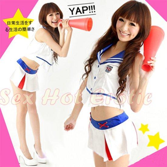 New SEXY & HOT Cheerleader Cosplay Dress Cute women Costume Lingerie CL# 02