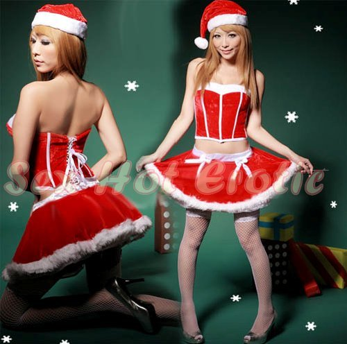 New SEXY & HOT Christmas Girl Cosplay Dress Cute women Costume Lingerie CM# 01