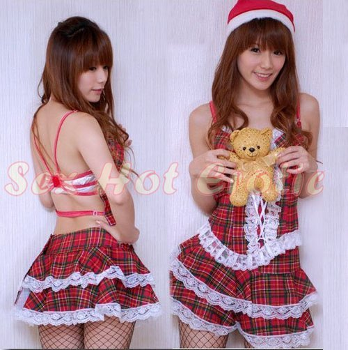 New SEXY & HOT Christmas Girl Cosplay Dress Cute women Costume Lingerie CM# 02
