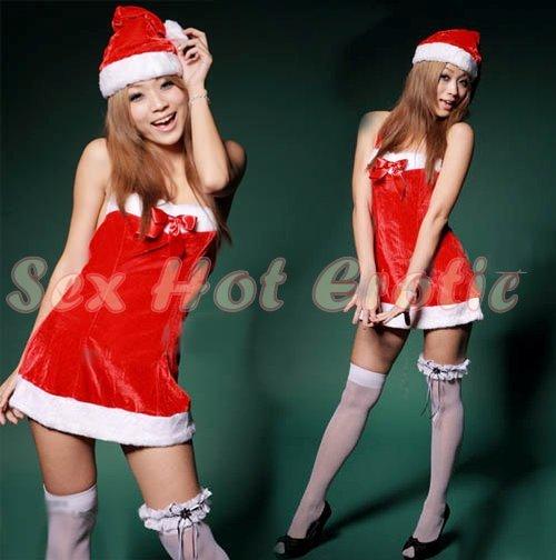 New SEXY & HOT Christmas Girl Cosplay Dress Cute women Costume Lingerie CM# 03