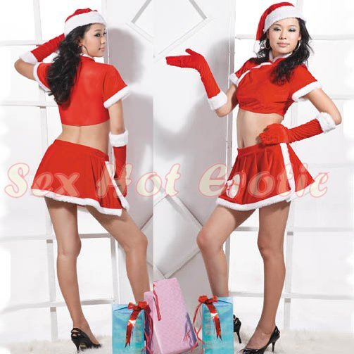 New SEXY & HOT Christmas Girl Cosplay Dress Cute women Costume Lingerie CM# 04