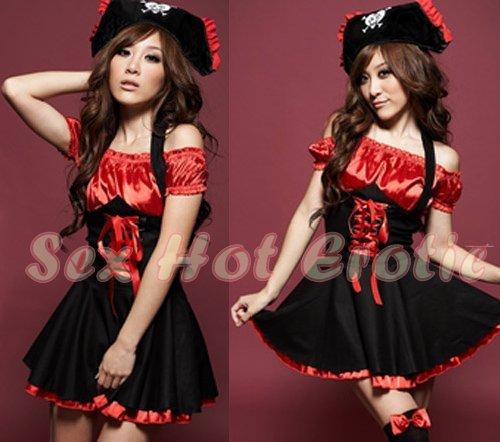 New SEXY & HOT Pirate Girl Cosplay Dress Cute women Costume Lingerie P# 01