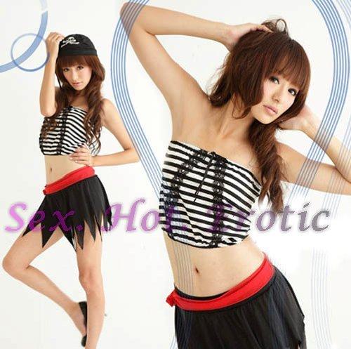 New SEXY & HOT Pirate Girl Cosplay Dress Cute women Costume Lingerie P# 02