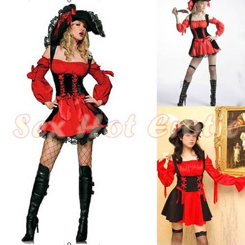 New SEXY & HOT Pirate Girl Cosplay Dress Cute women Costume Lingerie P# 04