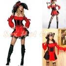 New SEXY & HOT Pirate Girl Cosplay Dress Cute women Costume Lingerie P# 04