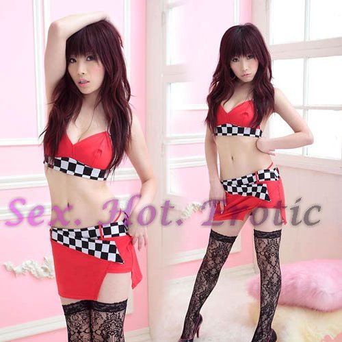 New SEXY & HOT Race Girl Cosplay Dress Cute women Costume Lingerie RG# 01