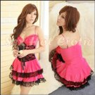 Princess Lolita Cake dress Costume Cosplay Japanese Hot Sexy Cute women badydoll PI01B Red