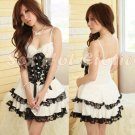 Princess Lolita Cake dress Costume Cosplay Japanese Hot Sexy Cute women badydoll PI01C White