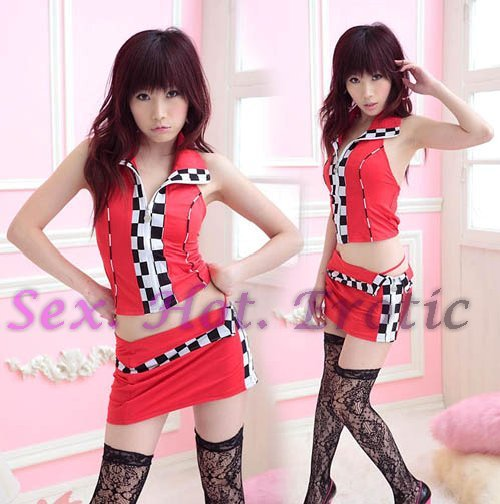 New SEXY & HOT Race Girl Cosplay Dress Cute women Costume Lingerie RG# 02