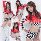 New SEXY & HOT Race Girl Cosplay Dress Cute women Costume Lingerie RG# 03