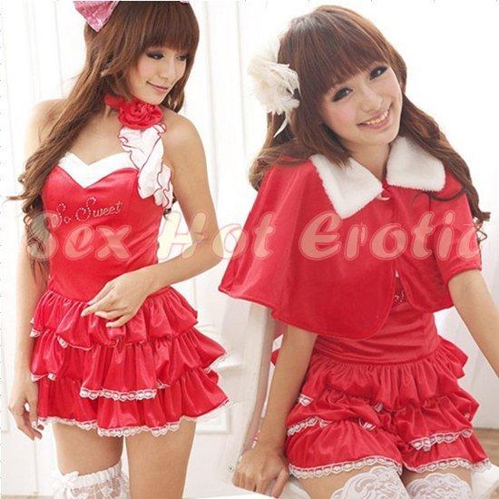 Princess Lolita Cake dress Costume Cosplay Japanese Hot Sexy Cute women badydoll PI05