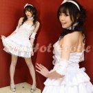 Princess Lolita Cake dress Costume Cosplay Japanese Hot Sexy Cute women badydoll PI06B White
