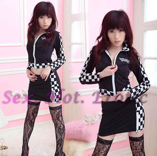 New SEXY & HOT Race Girl Cosplay Dress Cute women Costume Lingerie RG# 07