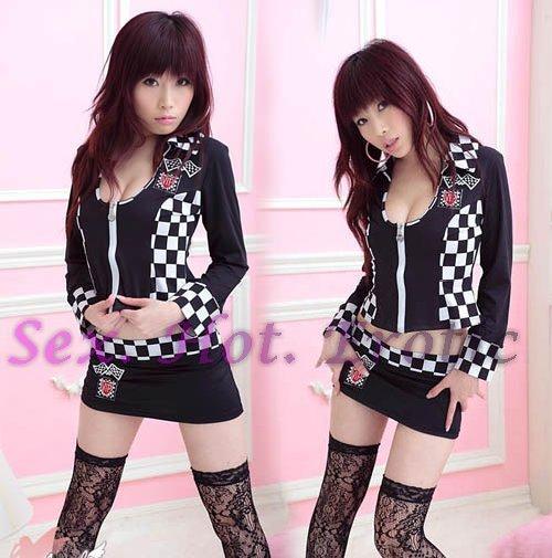New SEXY & HOT Race Girl Cosplay Dress Cute women Costume Lingerie RG# 08