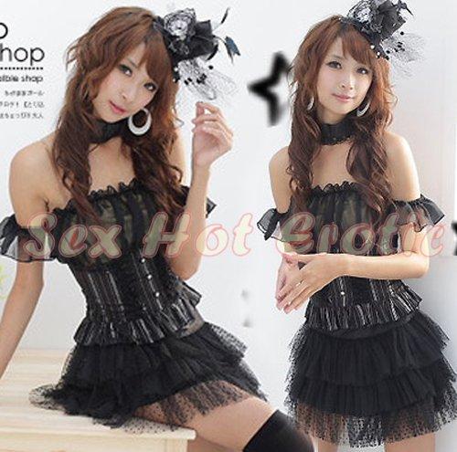 Princess Lolita Cake dress Costume Cosplay Japanese Hot Sexy Cute women badydoll PI14