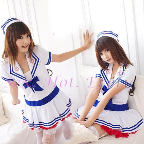 New SEXY & HOT Sailor Girl Cosplay Dress Cute women Costume Lingerie SA# 04