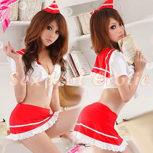 New SEXY & HOT Sailor Girl Cosplay Dress Cute women Costume Lingerie SA# 12