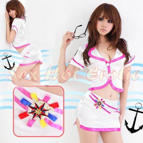 New SEXY & HOT Sailor Girl Cosplay Dress Cute women Costume Lingerie SA# 21