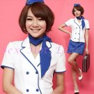 New SEXY & HOT Flight Attendant Stewardess Girl Cosplay Dress Cute women Costume Lingerie FA# 01