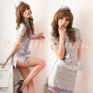 New SEXY & HOT Flight Attendant Stewardess Girl Cosplay Dress Cute women Costume Lingerie FA# 02