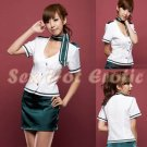 New SEXY & HOT Flight Attendant Stewardess Girl Cosplay Dress Cute women Costume Lingerie FA# 05