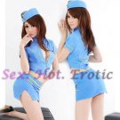 New SEXY & HOT Flight Attendant Stewardess Girl Cosplay Dress Cute women Costume Lingerie FA# 06