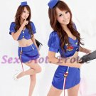 New SEXY & HOT Flight Attendant Stewardess Girl Cosplay Dress Cute women Costume Lingerie FA# 07