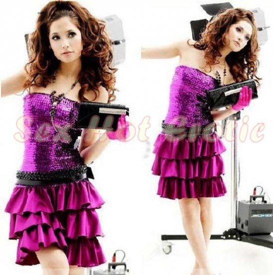 Clubbing Evening Stage Dancer Dress Sexy Lingerie Hot Cute women dress badydoll CD01B Purple