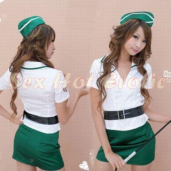New SEXY & HOT Flight Attendant Stewardess Girl Cosplay Dress Cute women Costume Lingerie FA# 09