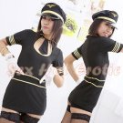 New SEXY & HOT Flight Attendant Stewardess Girl Cosplay Dress Cute women Costume Lingerie FA# 10