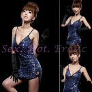 Clubbing Evening Stage Dancer Dress Sexy Lingerie Hot Cute women dress badydoll CD02D