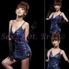 Clubbing Evening Stage Dancer Dress Sexy Lingerie Hot Cute women dress badydoll CD02D