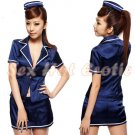 New SEXY & HOT Flight Attendant Stewardess Girl Cosplay Dress Cute women Costume Lingerie FA# 12