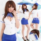 New SEXY & HOT Flight Attendant Stewardess Girl Cosplay Dress Cute women Costume Lingerie FA# 14