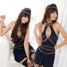 New SEXY & HOT Flight Attendant Stewardess Girl Cosplay Dress Cute women Costume Lingerie FA# 16