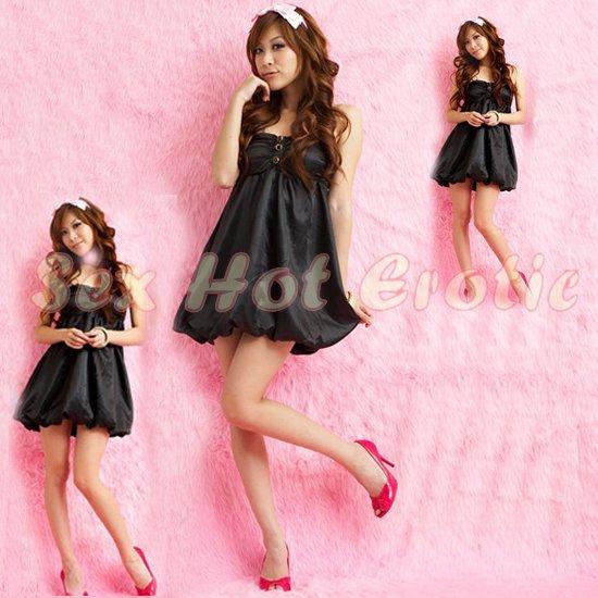 Clubbing Evening Stage Dancer Dress Sexy Lingerie Hot Cute women dress badydoll CD11A Black