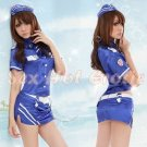 New SEXY & HOT Flight Attendant Stewardess Girl Cosplay Dress Cute women Costume Lingerie FA# 21