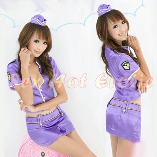 New SEXY & HOT Flight Attendant Stewardess Girl Cosplay Dress Cute women Costume Lingerie FA# 22